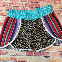 Serape Cheetah Shorts Pre-order (adult & kids)