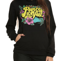 Pierce The Veil Tropical Floral Logo Girls Pullover Hoodie 3XL