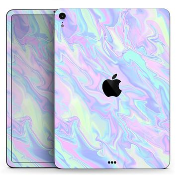 "Iridescent Dahlia v1 - Full Body Skin Decal for the Apple iPad Pro 12.9"", 11"", 10.5"", 9.7"", Air or Mini (All Models Available)"