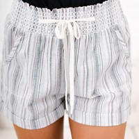 Love Daze Striped Shorts (Multi Color)
