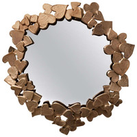 """Coeurs"" Unique Handmade Mirror by Michel Salerno"