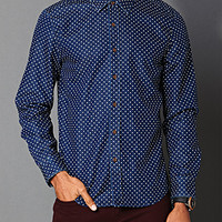Classic Fit Dotted Denim Shirt Denim Washed