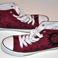 ONETOW Supernatural shoes, converse style. Shoes based on the TV show Supernatural