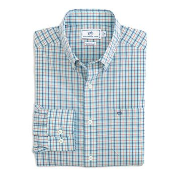 Skipjack Mini Check Button Down Sport Shirt by Southern Tide