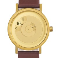 Reveal Watch in Brass by Projects Design