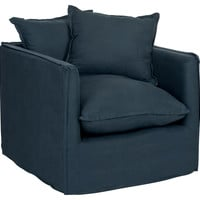 Jodi Armchair, Navy, Club Chairs