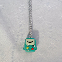 Beemo (BMO from Adventure Time) Chibi Necklace :)