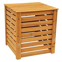 Solid Wood 90-Gallon Compost Bin with Removable Top and Hinged Side Panel