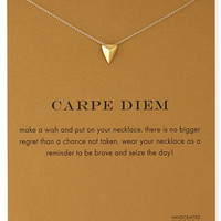 Sparkling Carpe Diem gold plated Pendant necklace Stud Clavicle Chains Fashion Statement Necklace For Women Jewelry