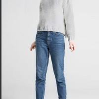 Grey Knitted Jumper with Crew Neck