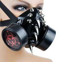 BIO Hazard Steam Punk Spike Gas Mask Dual Respirator