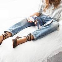 Free People Washed Leather Ballet Flat