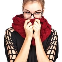 Cable Twist Infinity Scarf