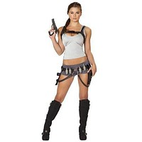 Sexy Grenade Belt Backpack Laura Croft Halloween Costume