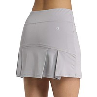 Ultrafun Women's Active Tennis Golf Skort Pleated Athletic Sports Running Skirt with Pockets and Shorts