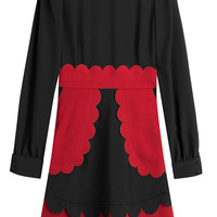 RED Valentino - Crepe Dress with Scalloped Detail