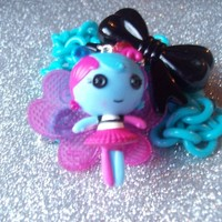 Fairy Kei III - Lalaloopsy Fairy Doll and Bow Charm Necklace from On Secret Wings