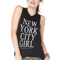 Brandy ♥ Melville    NYC Girl Tank - Graphic Tops - Clothing
