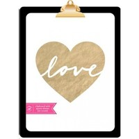 White and Gold Quotes Clipboard | Gartner Studios