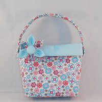Little Girls' Purse Pastel Floral and Blue
