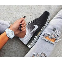 """""""NIKE"""" Air Max Section Classic Trending Men Stylish Casual Sports Shoes Sneakers Grey White I/A"""