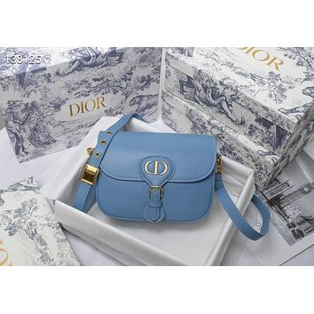 DIOR WOMEN'S LEATHER BOBBY INCLINED SHOULDER BAG