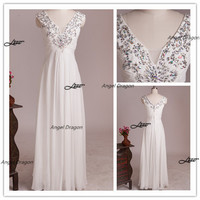 Two Shoulder Ruffle White Prom Dresses,Long prom dress,sexy prom dress,long evening dress,prom dresses,evening dress,bridesmaid dresses
