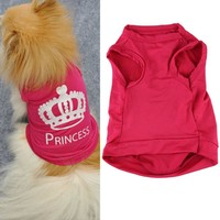 Fashion Pet Dog Cat Vest Cute Princess Red Dog Clothes Puppy Dog Clothes Summer Abbigliamento Per Cani PiccoliWZ85