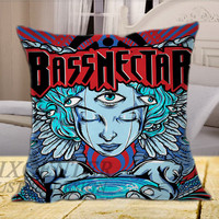 Bassnectar Tour on Square Pillow Cover