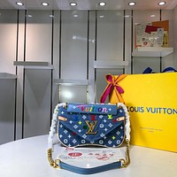 LV Louis Vuitton WOMEN'S MONOGRAM CANVAS New Wave INCLINED SHOULDER BAG