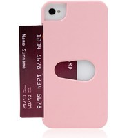 i-Blason Lexis Premium Ultra Slim Fit Credit Card Holder Case for AT&T, Sprint, Verizon iPhone 4/4S with Bonus Screen Protector Retail Packaging (Pink 1)