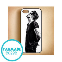 Harry Styles black and white iPhone 4/4s 5/5s/5c & iPod 4/5 Rubber Case