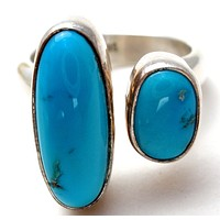 Turquoise Ring Sterling Silver Size 6