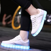 Women&Men Led Shoes Casual light Shoes Glow LED Luminous Shoes Woman Light up Chaussure Lumineuse USB Basket Femme Unisex