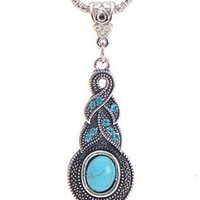 SNAZZY Turquoise Infinity Pendant Necklace