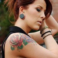 """Ebony Wooden Plugs - 2g (6.5 mm) 0g (8 mm) 00g (9 mm) 7/16"""" (11 mm) 1/2"""" (13 mm) 9/16"""" (14 mm) Wood Gauges - Any """"small"""" size, under 14mm"""