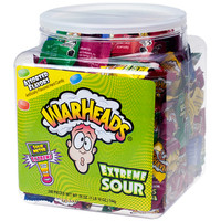 WarHeads Extreme Sour Hard Candy Packs: 240-Piece Tub