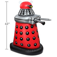 Giant Doctor Who Inflatable TARDIS and Dalek