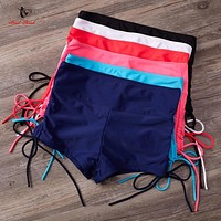 Ariel Sarah 2018 Solid Quick Dry Beach Underwear Swimwear Swimsuit Women Bottom Sexy Bikini Panties Bathing Suit Shorts Q276