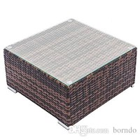 7 Pcs Wicker Rattan Patio Outdoor Sectional Sofa Couch