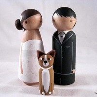 Personalized Wood Doll Cake Topper with 1 by peanutbutterbandit