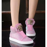 Versace Sneakers with high help shoes-4