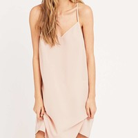 Sparkle & Fade Lace Back Slip in Blush - Urban Outfitters