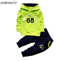 Toddler Tracksuit Autumn Baby Clothing Sets Children Boys Girls Fashion Brand Clothes Kids Hooded T-shirt And Pants 2 Pcs Suits