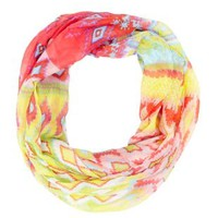 Tribal Print Infinity Scarf by Charlotte Russe - Orange Combo