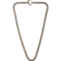 Saint Laurent - Sterling Silver Curb Chain Necklace