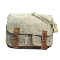 Mato Allo Crossbody Satchel Laptop Shoulder Messenger Bag Suede Buckle Unisex