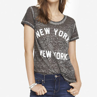BOXY GRAPHIC TEE - NEW YORK NEW YORK from EXPRESS