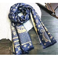 Louis Vuitton Multicolor Fashion Women Winter Scarf  Blanket Scarf H-YH-FTMPF