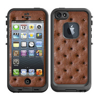 Skins FOR the Lifeproof iPhone 5 Case - Ice Cream Sandwich yummy nom nom - Free Shipping - life proof - Lifeproof Case NOT included